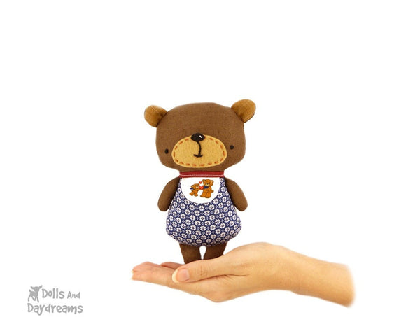 Baby Bear Sewing Pattern - Dolls And Daydreams - 1