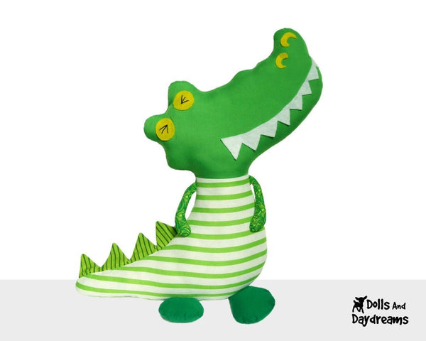 Crocodile Sewing Pattern - Dolls And Daydreams - 2