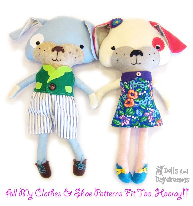 Puppy Dog Sewing Pattern | Dolls And Daydreams