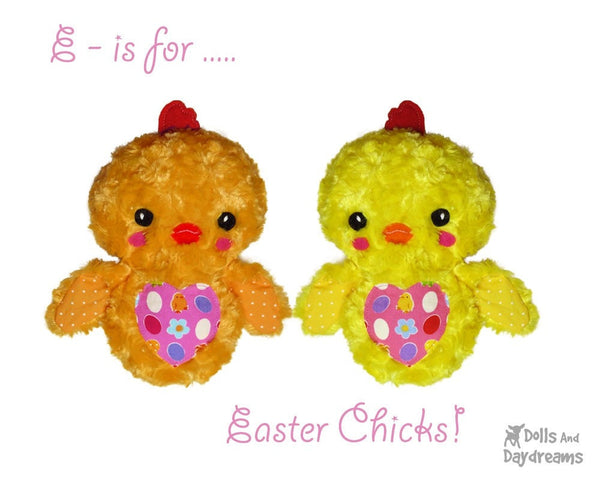 Love Bird Chick Sewing Pattern