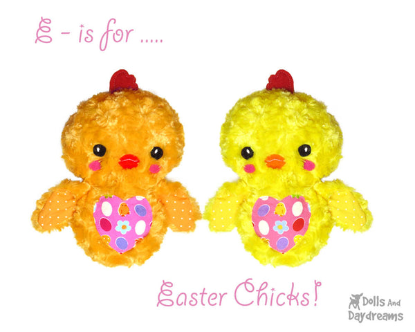 Embroidery Machine Chick Love Bird Pattern