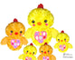 Embroidery Machine Easter Chick Pattern