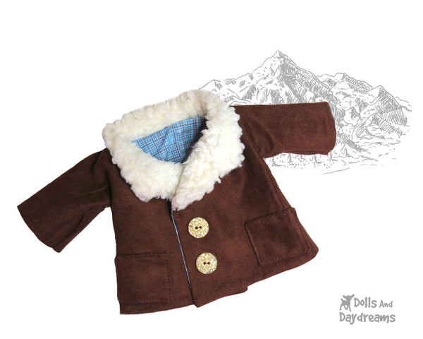 18 inch Boy Doll Coat Sewing Pattern by Dolls And Daydreams 2