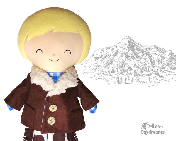 Doll Coat PDF Sewing Pattern by Dolls And Daydreams