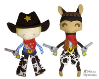 Wild West Set 1 Cowboy, Horse & Clothes - Dolls And Daydreams - 1