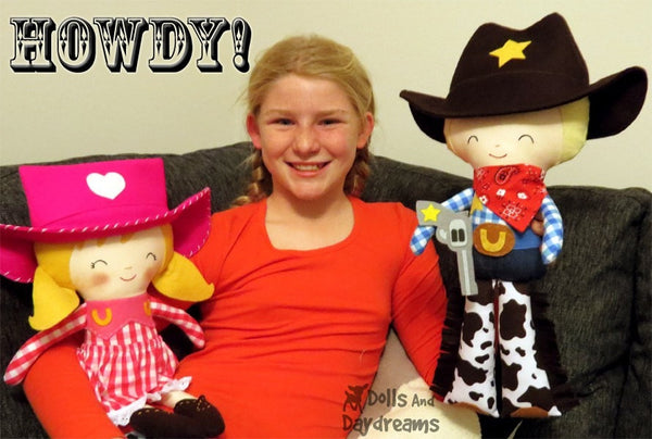 Cowboy Sewing Pattern - Dolls And Daydreams - 5