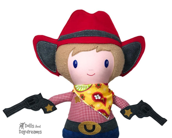 Embroidery Machine ITH Country Cowboy Country Rag Doll by Dolls And Daydreams
