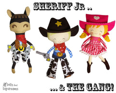 Wild West Set 2 Cowboy, Cowgirl & Horse