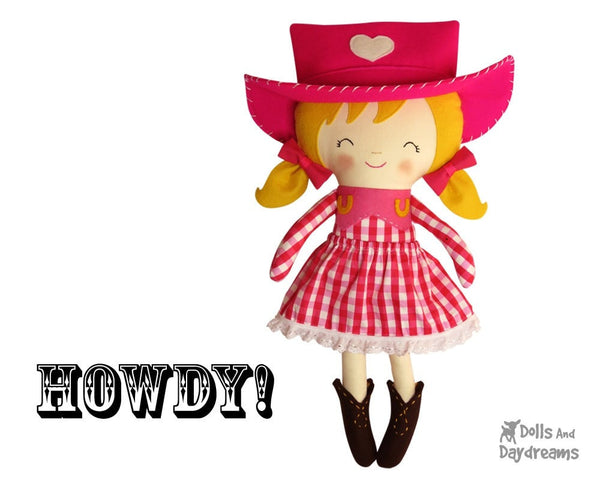 Cowgirl Sewing Pattern - Dolls And Daydreams - 3