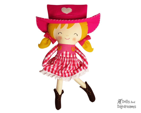 Cowgirl Sewing Pattern - Dolls And Daydreams - 1