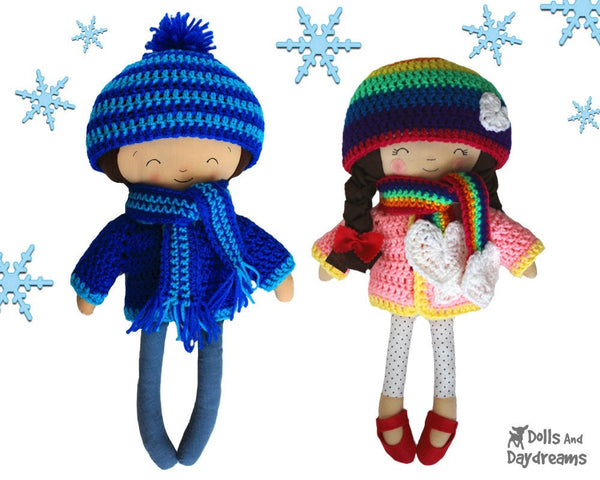 Winter Woolies Crochet Pattern - Dolls And Daydreams - 1