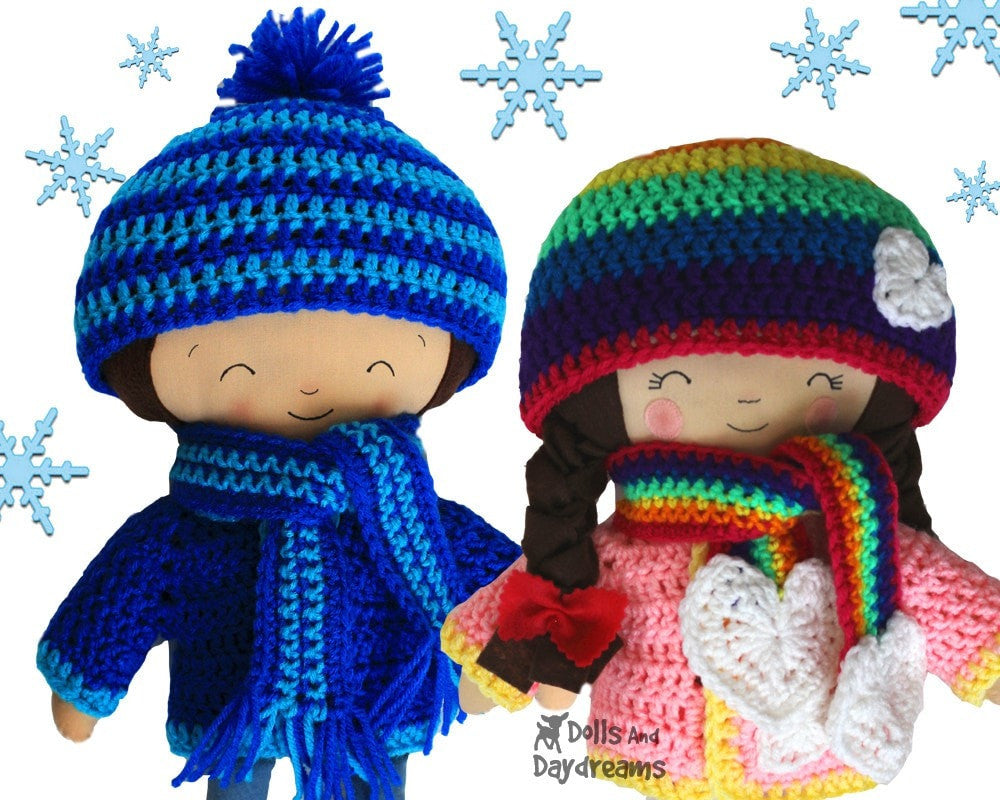 Winter Woolies Crochet Doll Clothes Pattern Dolls And