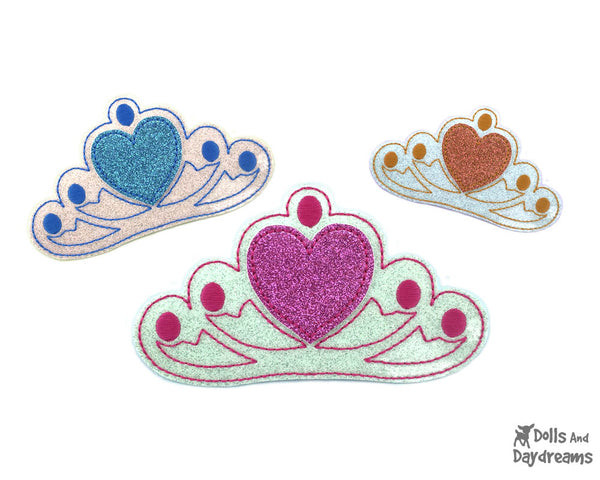 ITH Tiara Dress Up embroidery machine Pattern by Dolls And Daydreams diy