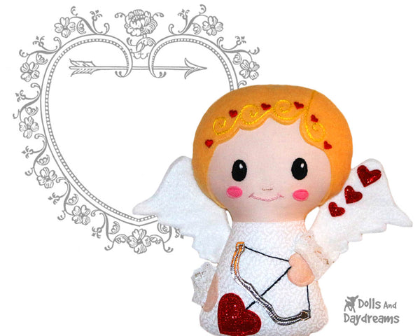 Cupid Cherub Sewing Pattern PDF Doll Valentines doll