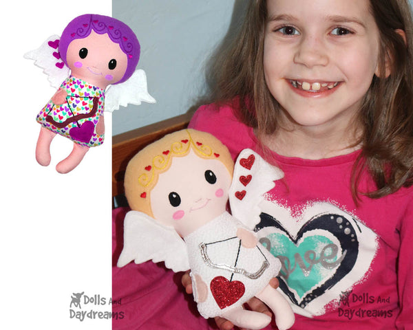 Cupid Sewing Pattern PDF Valentines doll