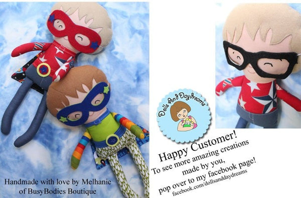 Superhero Sewing Pattern - Dolls And Daydreams - 6