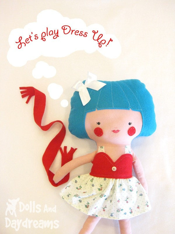 Skirt, Top and Scarf Sewing Pattern - Dolls And Daydreams - 3