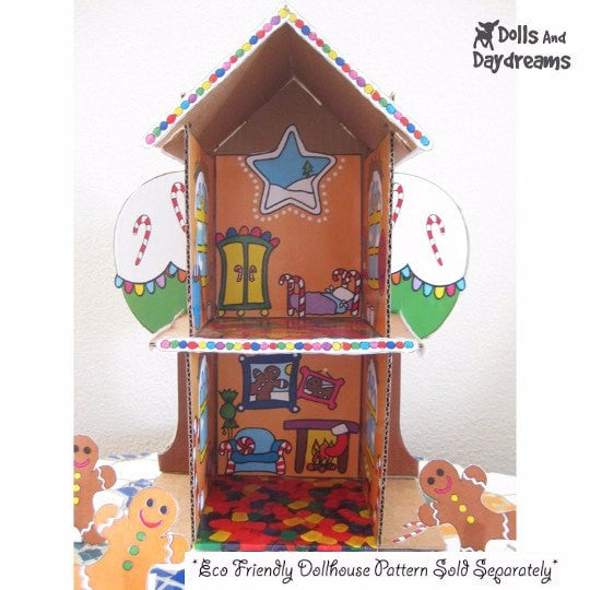 Decorative 'Gingerbread House' Printouts - Dolls And Daydreams - 3