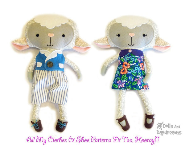Lamb Sewing Pattern - Dolls And Daydreams - 4