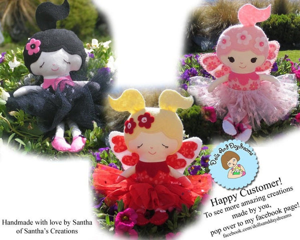 Flower Fairy Sewing Pattern - Dolls And Daydreams - 6