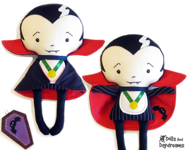 Vampire Sewing Pattern - Dolls And Daydreams - 1