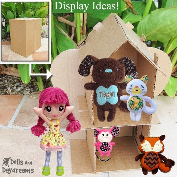 Diy Cardboard Doll House Pattern Dolls And Daydreams