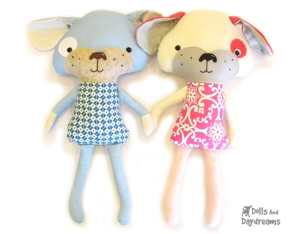 Puppy Dog Sewing Pattern - Dolls And Daydreams - 1
