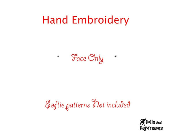 Hand Embroidery Or Painting Bunny Face Pattern - Dolls And Daydreams - 2