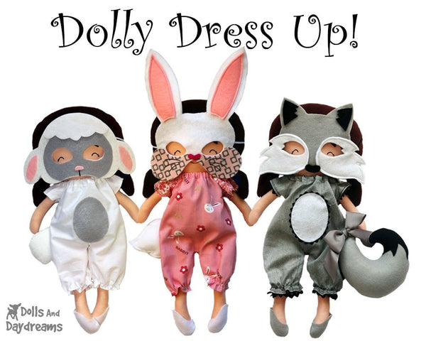 Bunny Mask & Tail Pattern - Dolls And Daydreams - 4
