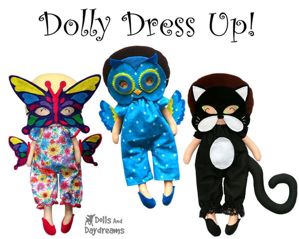 Owl Mask & Wing Pattern - Dolls And Daydreams - 5