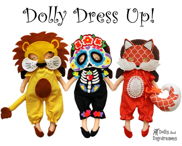Skeleton Mask & Necklace Pattern - Dolls And Daydreams - 4