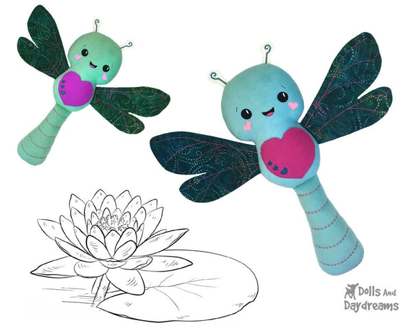 Embroidery Machine Dragonfly Pattern Stuffie