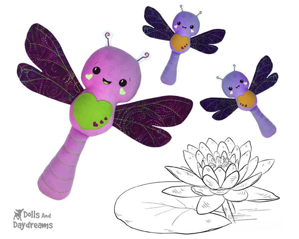 Embroidery Machine Dragonfly Pattern Softie toy