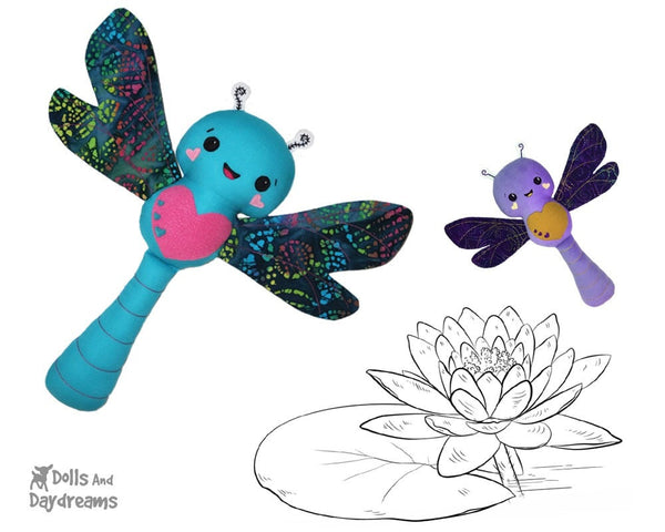 Dragonfly Sewing Pattern Softie