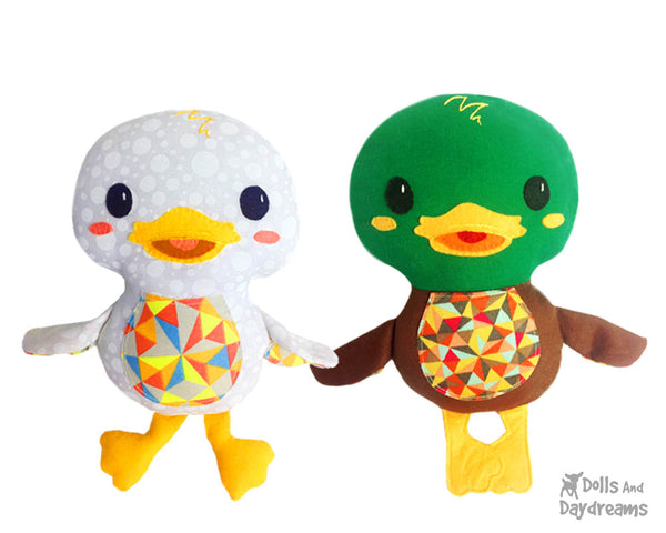 Duck PDF Sewing Pattern Plush Toy Softie DIY Plushie by Dolls And Daydreams