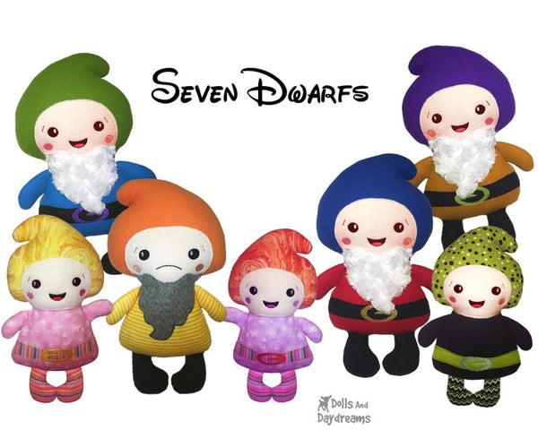 ITH Snow White & the 7 Dwarf Pattern