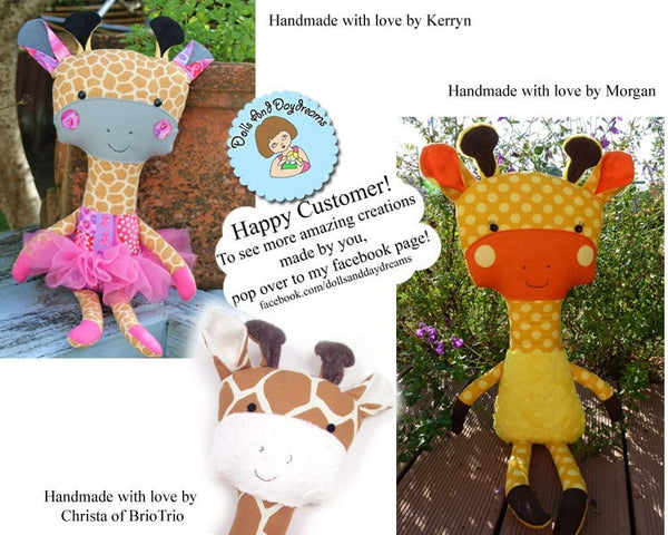 Giraffe Sewing Pattern - Dolls And Daydreams - 5