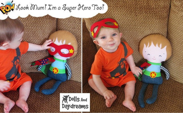 Superhero Sewing Pattern - Dolls And Daydreams - 3