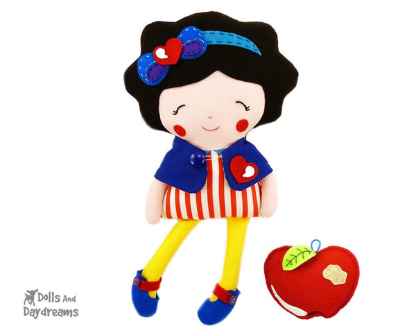 Snow White and The Seven Dwarfs Sewing Pattern - Dolls And Daydreams - 3