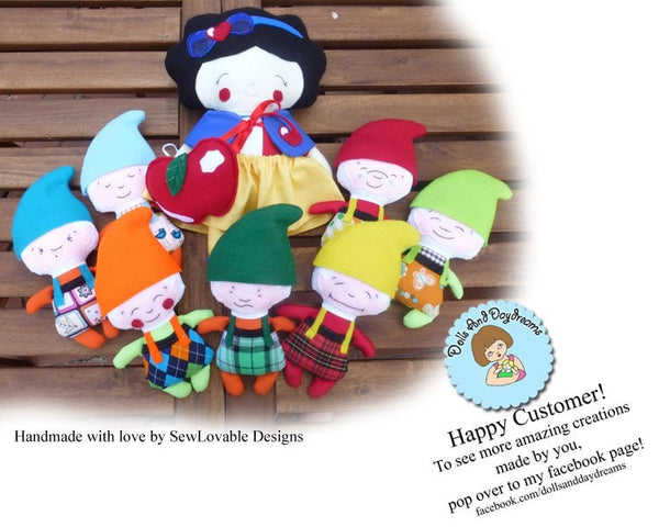 Snow White and The Seven Dwarfs Sewing Pattern - Dolls And Daydreams - 7