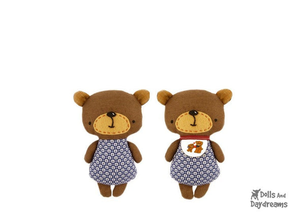 Baby Bear Sewing Pattern - Dolls And Daydreams - 3