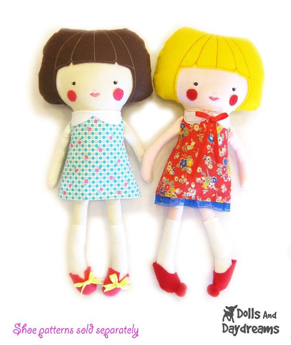 Retro Doll Dress Sewing Pattern - Dolls And Daydreams - 4