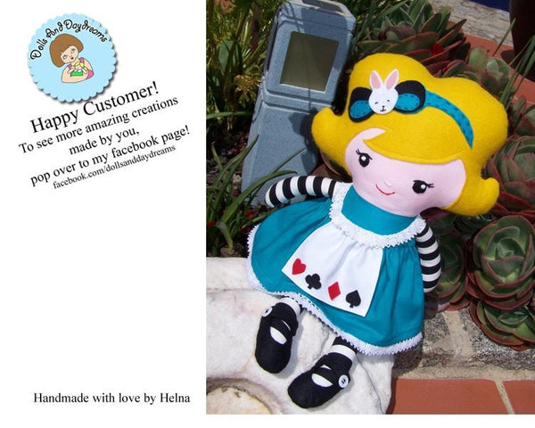 Alice In Wonderland Sewing Pattern - Dolls And Daydreams - 4