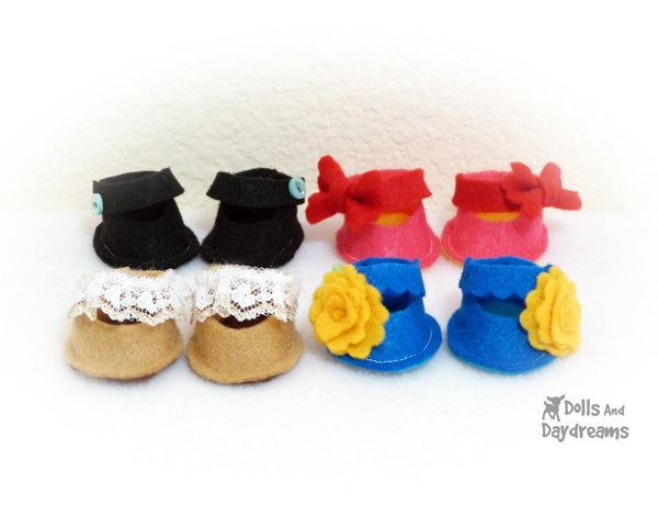 Poppet Shoe Sewing Pattern - Dolls And Daydreams - 1