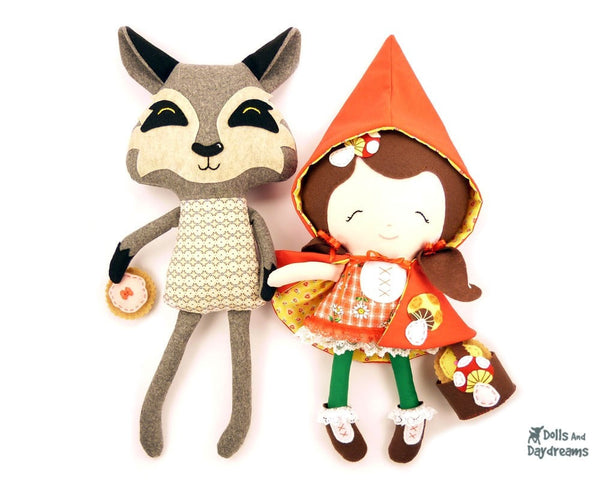 Little Red and Wolf Sewing Pattern - Dolls And Daydreams - 1