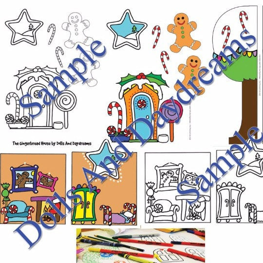 Decorative 'Gingerbread House' Printouts - Dolls And Daydreams - 2