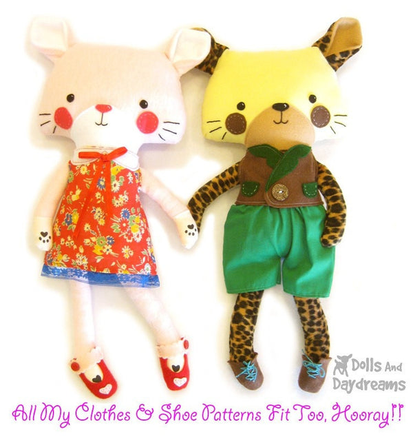 Cat Leopard Sewing Pattern - Dolls And Daydreams - 5
