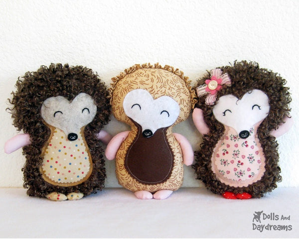 Hedgehog Sewing Pattern - Dolls And Daydreams - 3
