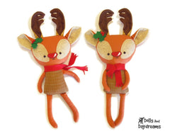 Rudolph Reindeer Sewing Pattern