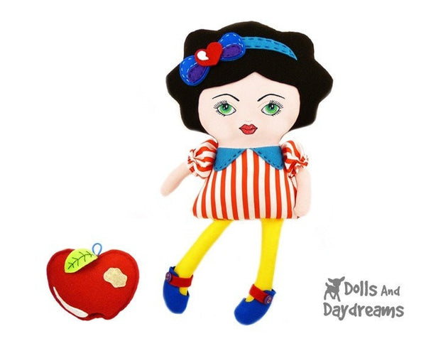 Hand Embroidery or Painting Art Doll Face Pattern - Dolls And Daydreams - 5